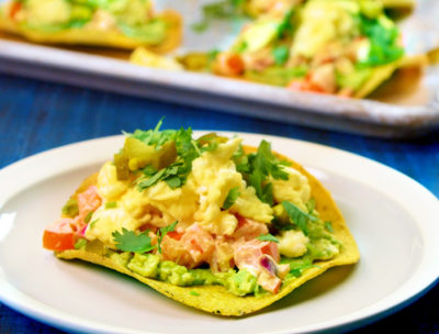 Breakfast Tostada with Avocado and Eggs