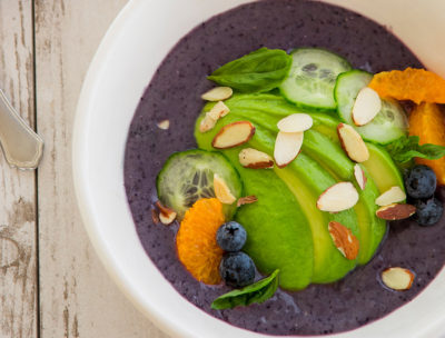 RECIPE: Zesty Avocado and Wild Blueberry Smoothie Bowl